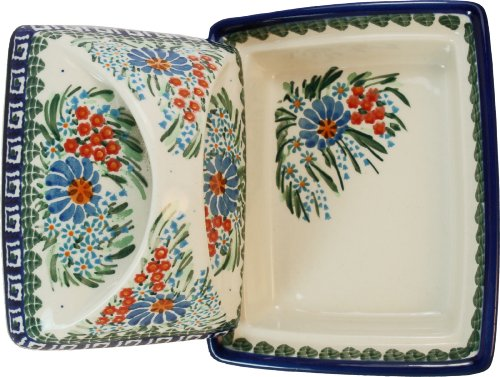 Polish Pottery Ceramika Boleslawiec 0352/169 Butter Deep Dish, 2 Cubes by Polish Pottery Ceramika Boleslawiec (Image #1)