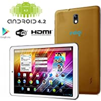 Indigi Brand New! 7-in CoreDuo Android 4.2 Tablet PC Capacitive HDMI WiFi Gold Leather