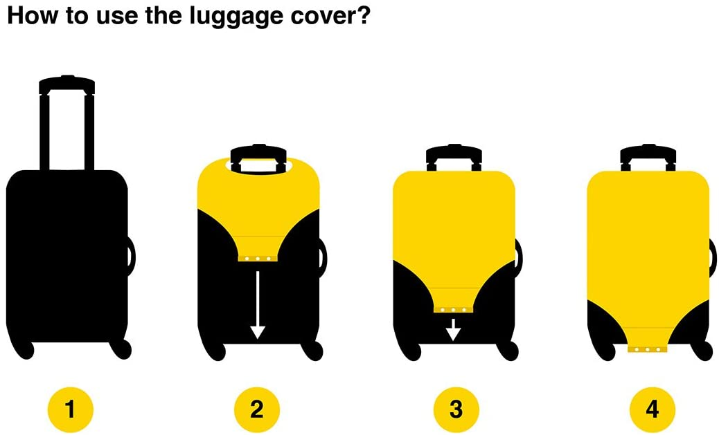 Luggage Protective Covers with Aurora Starry Sky Washable Travel Luggage Cover 18-32 Inch