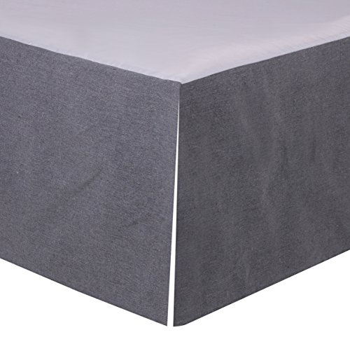 Levtex Home Box Pleated Dust Ruffle, Queen, Grey by Levtex home