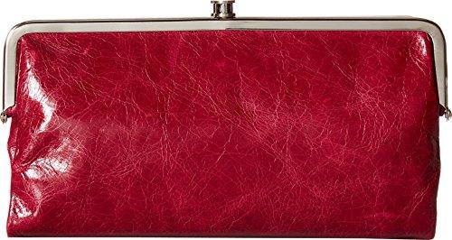 Hobo Women's Genuine Leather Vintage Lauren Clutch Wallet (Red Plum)