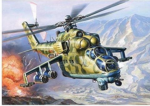 Mil Mi-24V/VP Hind E Soviet attack helicopter 1/72 Zvezda 7293 - Mi 24 Hind Helicopter