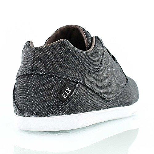 K1X , Chaussures de ville à lacets pour homme Noir Noir 42