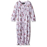 Mud Pie Baby Girl Convertible Sleepwear Gown, Multi, 3-6 Months