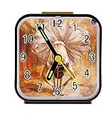 Bernie Gresham Girl in the Dance Ballet Personalized custom alarm clock for children bedroom Custom Square Black Alarm Clock