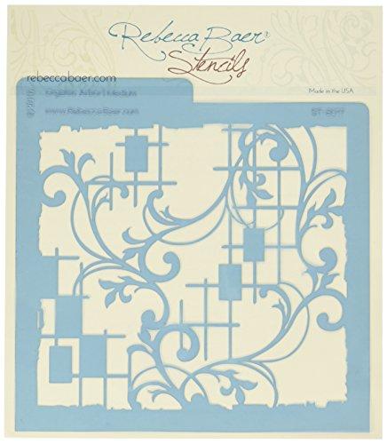 Rebecca Baer Schablone 7.75-inch X 7.75-inch Bio Gartenlaube