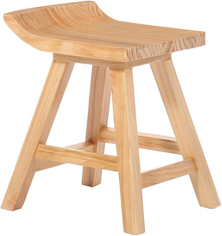 木製のレセプションチェア - カジュアルなハイスツールクリエイティブバーコーヒーショップパーソナリティバーハイスツール (色 : 褐色, サイズ : 45CM)