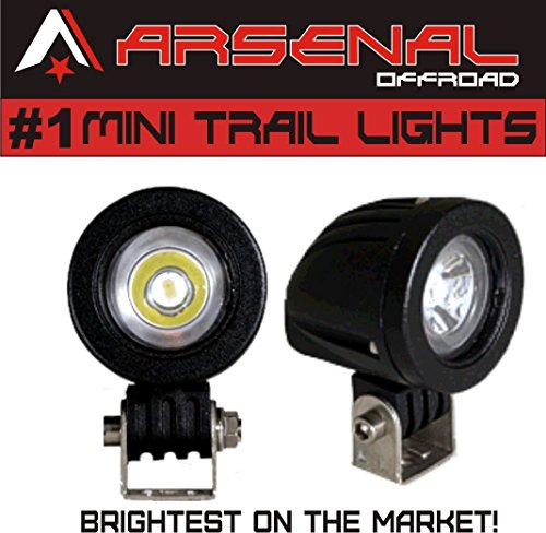 #1 Mini Trail Lights 2017 Design by Arsenal Offroad 20W CREE LED Spot Motorcycle Offroad Dual Sport Enduro Fog Trail Head Light for Xr DRZ EXC Dirt Bike Dual Sport - Dual Sport Lights