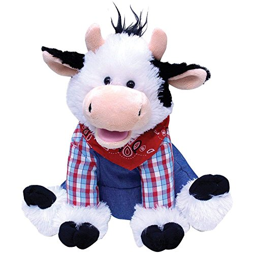 """Cuddle Barn Farmer Mac the Cow Animated Singing Musical Plush Toy, 12"""" Super Soft Cuddly Stuffed Animal Dances and Sings to the Classic Song """"Old MacDonald"""" with Cow Mooing ()"""