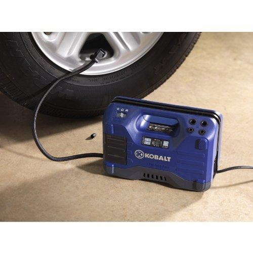 Kobalt Electric Air Compressor 120 PSI Portable 12 Volt or 120 V Tire Inflator (Air Compressor Parts Kobalt compare prices)
