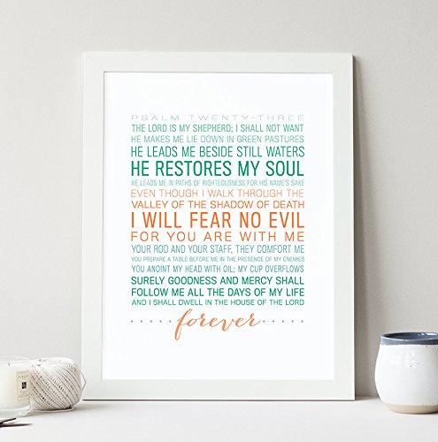 Psalm 23 Typography Art Print