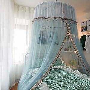Bulawlly Zanzariera per Bed, Letto a baldacchino della Tenda zanzariera, per Tutti Size, Appeso Letto a baldacchino del reticolato Viaggiare Camping e Famiglia Usato 11 spesavip