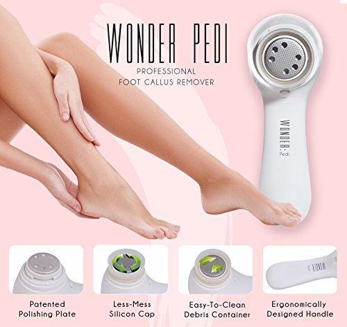 Electric Callus Remover Electronic Foot File to Shave Hard Cracked Dead Skin Professional Pedicure Tool Foot Care by Wonder Pedi (Callus Remover)
