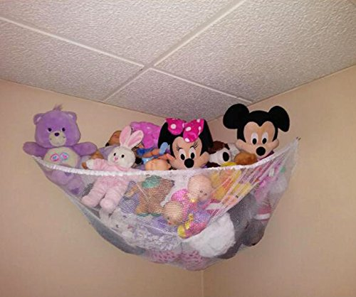 Powkoo Stuffed Animal Hammock, Stuffed Toys Hammock Toy Storage Net Organizer for Stuffed Animals, Teddy Bears, Nursery Play - Teddy Nursery