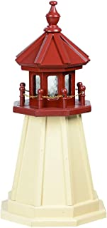 product image for DutchCrafters Decorative Lighthouse - Wood, Cape May Style (Ivory/Cherrywood, 2)