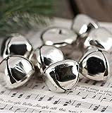 (100-Count)- Kraft Jingle Bells - ( 0.75 inch ) -, Value Bulk Jingle Bells Decorative Supplies, 20mm Holiday Bell, Décor