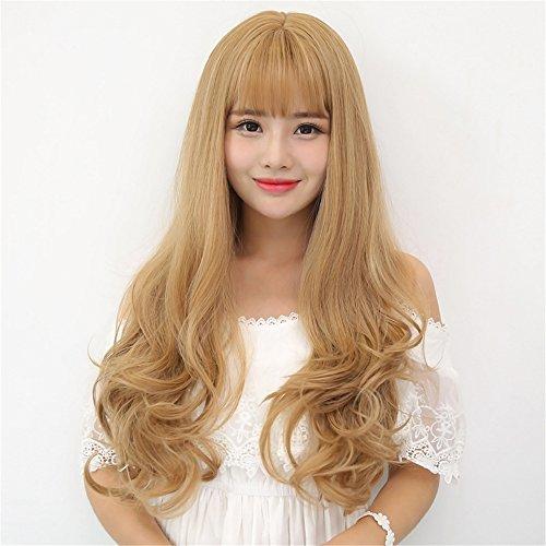 Womens Angelina Brown Wig (Prettybuy Synthetic Hair Long Curly Big Wavy Wig Kanekalon Futura Hair Wig Harajuku Style Lolita Wig, Light Brown)