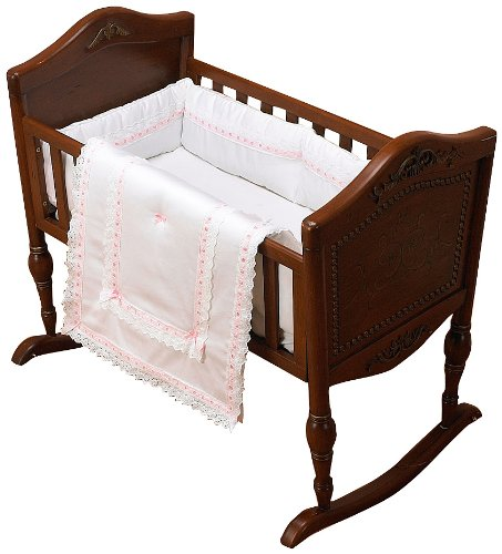 Baby Doll Bedding Royal Classic Cradle Bedding Set, Pink by BabyDoll Bedding   B0049U5PHK