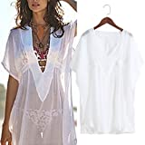 Feamos Sexy Bikini Cover up V-Neck Swimsuit Swimwear for Beach Swimming Pool