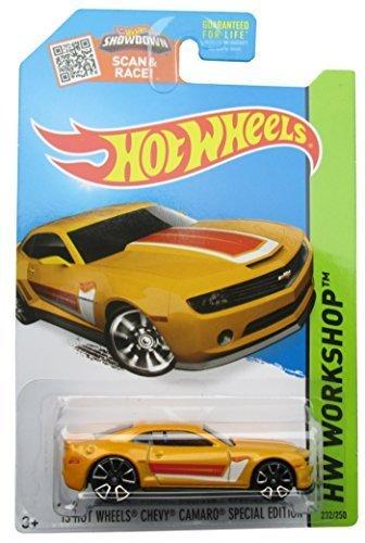 Hot Wheels 2015 HW Workshop '13 Hot Wheels Chevy Camaro Special Edition 232/250, Yellow (2013 Camaro Hot Wheels Edition For Sale)