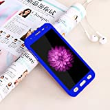 CEDO 360 Degree Full Body Protection Front & Back Case (iPaky Style) with Tempered Glass for Samsung Galaxy J2(6) (new 2016) / J2-6 (2016) / J2 Pro J210 (Blue)