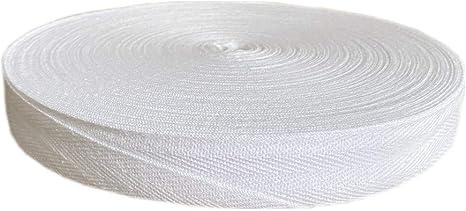 Cinta de sarga de 0,95 cm a 2,54 cm, 100% algodón, color blanco y ...