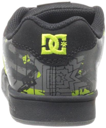 DC Shoes Character B D0301094B - Zapatillas de cuero nobuck para niños Amarillo (Gelb (BLK/SFLIME))
