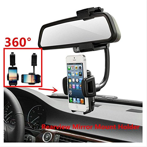 Cellular Phone Pda Smartphone - LUOMULONG Car Mount, Car Rearview Mirror Mount Truck Auto Bracket Holder Cradle for iPhone 7 7s 6 6s 6s plus 5s Samsung Galaxy S6 S6 edge S5 S4 Cell Phones Smartphone GPS PDA MP3 MP4 devices