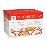 American Red Cross (4) Person 72 Hour Food Supply Emergency Freeze-dried Food Sealed in Mylar Pouches, Long Shelf Life, Emergency Food Meals