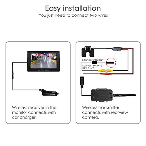 auto-vox m1w wireless backup camera kit ip 68 waterproof led