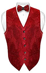 Sequin Design Dress Vest & Bow Tie