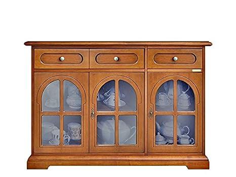 Credenza Arte Povera Vetro : Credenza stile classico; 3 ante in vetro 2 cassetti struttura