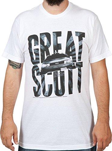 (Back to The Future Men's Great Scott T-Shirt White)