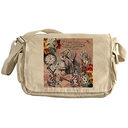 CafePress - Alice In Wonderland Vintage Adventures Messenger B - Unique Messenger Bag, Canvas Courier Bag
