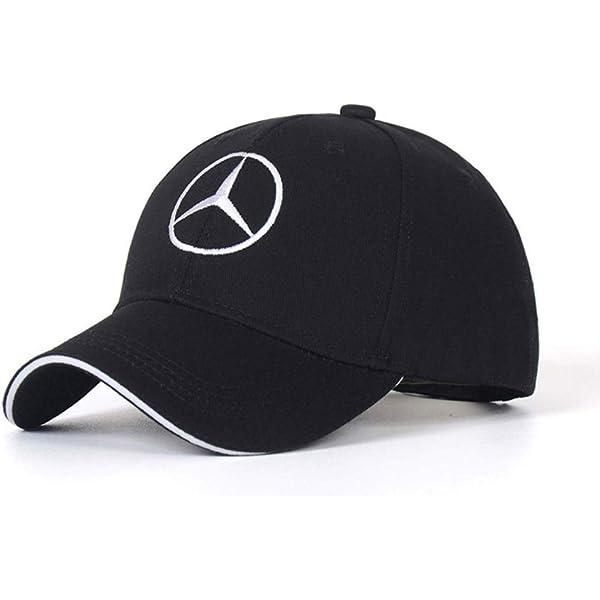 DIY12345 Car Logo Adjustable Baseball Cap Black Unisex Hat Travel Cap Car Racing Motor Hat for Mercedes-Benz