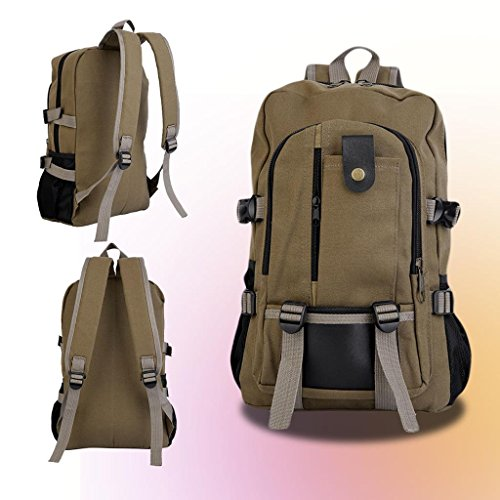 canvas-backpack-mens-women-laptop-shoulder-travel-hiking-rucksack-camping-bag-brown