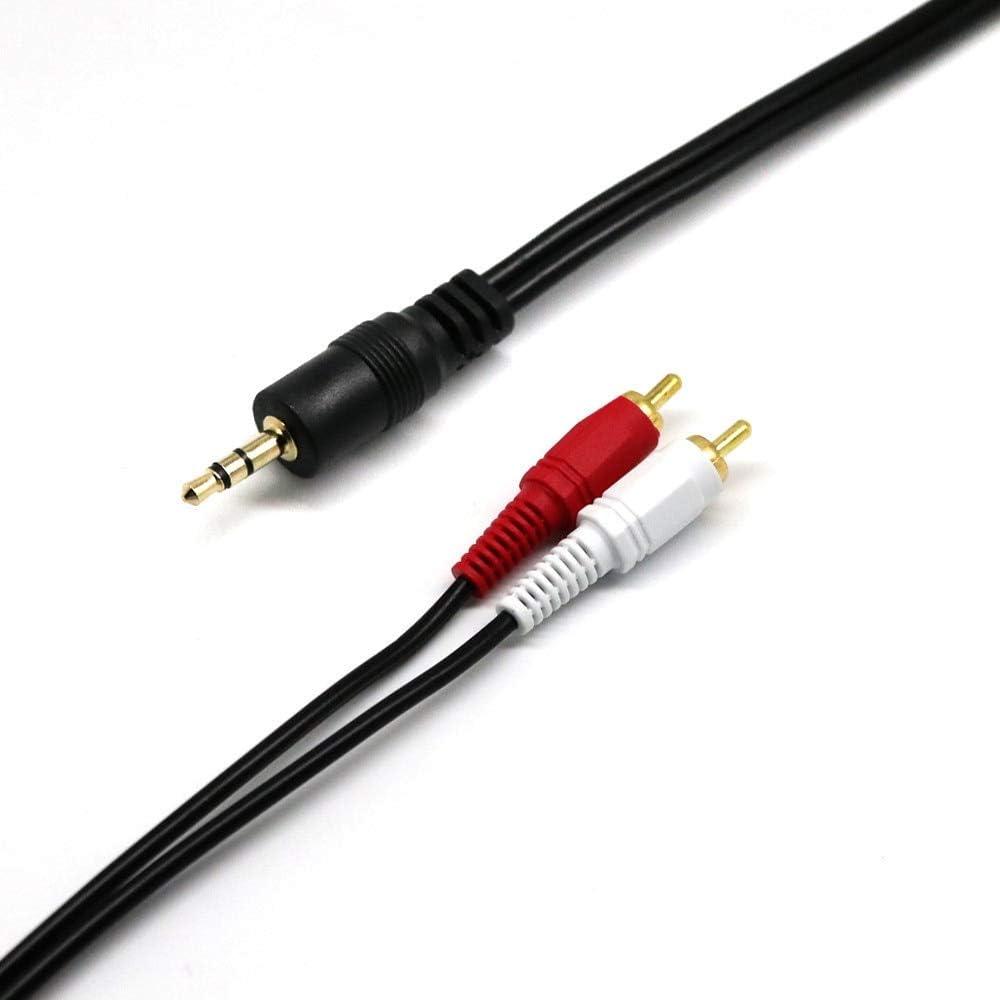 Computer Cables 10M 15M Audio Cable 3.5mm Jack on RCA Jack RCA Jack RCA to AUX Jack 10M 15M Yoton Cable Length: 305m, Color: Black