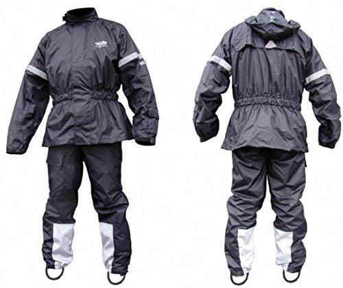 Two Piece Rain Suit - Motorcycle, ATV, or Snowmobile Rainsuit Rainwear (Medium)