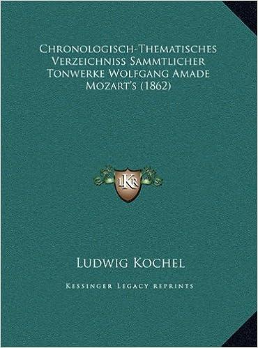 Chronologisch-Thematisches Verzeichniss Sammtlicher Tonwerke Wolfgang Amade Mozart's (1862)