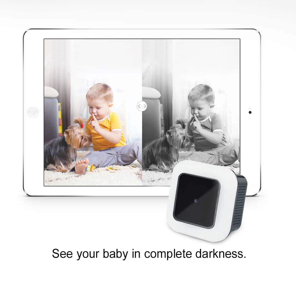P2P Babys Room Easy Set Up 150 Degree Wide Angle for Home Motion Detection Surveillance Loop Recording Semsor Night Light Hidden Spy Cam with Night Vision Feature WiFi 1080p Resolution