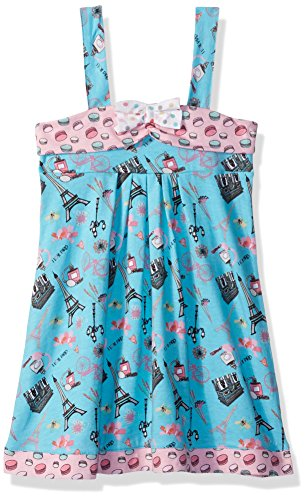 Jelly the Pug Little Girls' Spring in Paris Coley Dress, Multi, 6