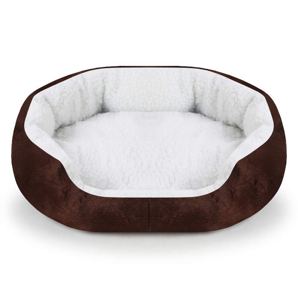D Kennel Pads Dog Beds pet Bed Pet nest Short Plush Kennel Trumpet 6 colors, 40x45cm (color   B) Cat Bed Pet Supplies Cover (color   D)