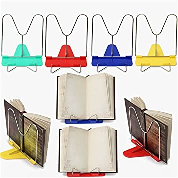 adjustable angle foldable portable reading book stand desk holder rh amazon ca book stand for desk staples book stand for desk india