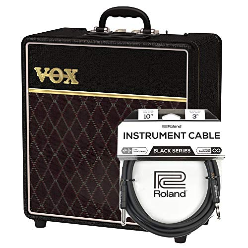 - Vox AC4 4 Watt 1x12 Classic Limited Edition Combo Cable Bundle