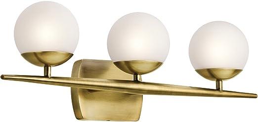 kichler jasper 3 light bathroom vanity light - Bathroom Vanity Light