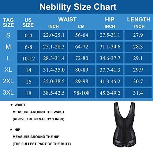 Nebility Women Waist Trainer Bodysuit Double Slim Full Body Shapewear Breathable Smooth Corset