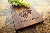House Stark Personalized Walnut Cheese Board - Game of Thrones, Winter is Coming, Dinner is Coming, Birthday Gift For Her, Funny Present, Wedding Gift. #938