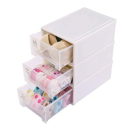 Caja de almacenamiento para ropa interior tipo cajón con varios compartimentos para guardar ropa interior,