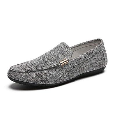 462024a1e862 Chaussure de Conduite en Toile a Enfiler pour Homme Souple Basse Plate  Chaussure de Travail de Marche de la Ville au Loisir Respirant  Amazon.fr   Chaussures ...