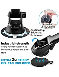 APPS2CAR Soporte magnético para teléfono móvil, universal, para salpicadero, parabrisas, ventosa de fuerza industrial, soporte para teléfono con brazo telescópico ajustable, 6 imanes fuertes